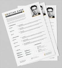 Unique Resumes Free PSD WORD PDF Document Download Free Adorable Unique Resumes
