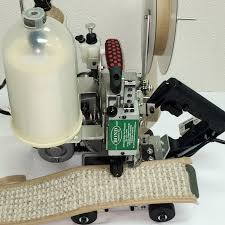 carpet binding machine. model pbb-1x bobbinless portable single puller 2x2 carpet binder \u201cno more changing bobbins\u201d binding machine e