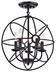 avogadro sphere cage globe flush mount chandelier