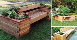 perfect raised garden bed with bench