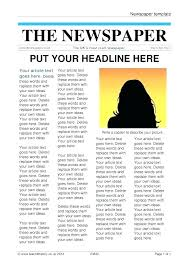 Old West Newspaper Template Best Of Fresh Free Newspaper Template For Word Awesome News