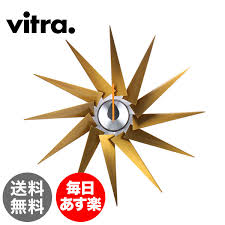 vitra vitra wall clocks wall clocks wall clock turbine clock brass aluminum brass aluminium 201 255 05