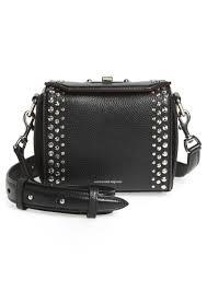 alexander mcqueen box bag 16 studded leather bag