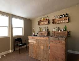 small bar furniture for apartment. Decorations:Creative Handmade Home Bar Small Apartment With Rustic Look  Using Reclaimed Wood Also Pallet Small Bar Furniture For Apartment