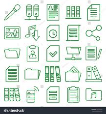 File Icons Set Set 25 File Stock Vector 654122563 Shutterstock