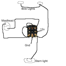 bow and stern light wiring diagram bow image boat navigation lights wiring diagram boat auto wiring diagram on bow and stern light wiring diagram