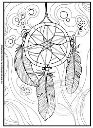 Small Picture Native American Coloring Pages Printable Dreamcatcher Feathers