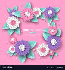 Paper Flower Designs Paper Cut 3d Flower Frame In Pink White And