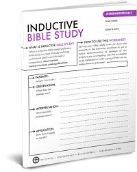 4 Free Inductive Bible Study Worksheets Scripture Study