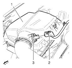 Disconnect mass air flow sensor wiring harness plug 2 from mass air