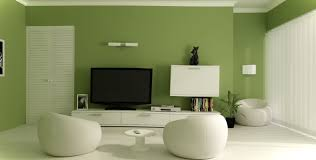 green wall paintBeautiful Small Living Room Design with Green Wall Paint Color and