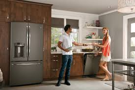 Colored Kitchen Appliances Sleek And Chic Ge Expands Popular Slate Finish To More Appliances