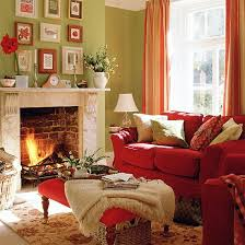 red furniture ideas. the romantic red couch and lightgreen wall create a complementary color scheme furniture ideas