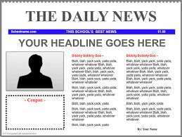 Kids Newspaper Template Newspaper Printable Template For Kids Under Fontanacountryinn Com