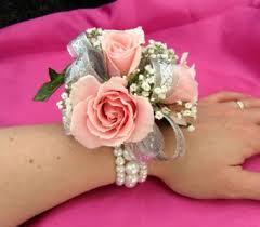 pretty in pink wrist corsage in portland me dodge the florist
