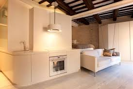 One Room Living Space Apartment Open Trastevere Living Space Dining Room Set Next To