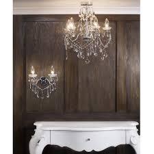 spa 19713 chr luxuray bathroom chanedlier matching wall lights stunning interior design