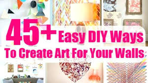 how to create wall art at home
