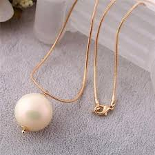 korean sweet and elegant single large pearl pendant necklace female long sweater chain accessories european style elegant single pendant necklace