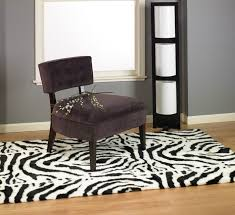 abstract faux fur zebra rug 5x7 new
