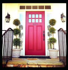 red entry door red door with lovely black hardware red front door with oval glass