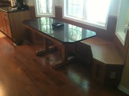 quartz top dining table. Custom Bay-window Seat W/storage And Custom-built Dining Table With Matching Quartz Top R