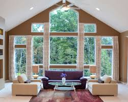 Staggering Shades For Large Windows Decorating