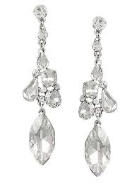 clear crystal chandelier drop earrings clear crystal rhinestone chandelier earrings