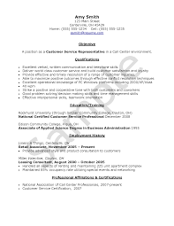 Resume Objective For Customer Service Call Center Resume Objective Examples Examples of Resumes 82