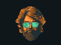 KGF | Beard art, Portrait illustration ...