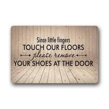 Doormat please remove shoes doormat images : WARM TOUR Custom Machine washable Door Mat Please Remove Your ...