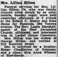 Obituary for Lillian Hilton - Newspapers.com