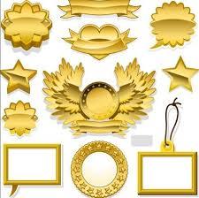 Label Design Templates Free Golden Blank Badge Label Design Templates 02 Titanui