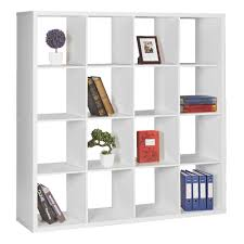 horsens  cube bookshelf white  officeworks