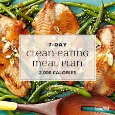 14 Day Clean Eating Meal Plan 2 000 Calories Eatingwell
