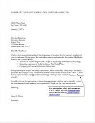 Cover Letters Non Profit Fresh Non Profit Cover Letter Sample