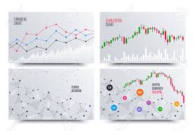Financial Chart With Line Graph Cryptocurrency Stock Exchange