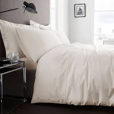 limited edition classic stripe super king duvet cover set ivory