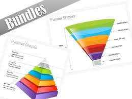 Ppt Pyramid Powerpoint Business Bundle Pyramids And Funnels Shapes