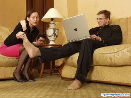 Ira bisexual pantyhose admiring trio