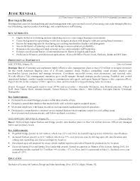 Fashion Merchandising Resume Examples Letter Resume Source