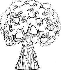 Free Printable Kids Coloring Pages Apple Tree Apple Tree Coloring