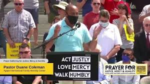 Church Ambassador Network of PA - Pastor Duane Coleman at the Prayer  Gathering for Justice, Mercy and Humility | Facebook