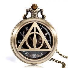 re harry potter tripod pocket watch good ing quartz watch gold