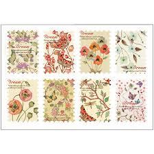 vintage flower sheets 3 sheets lot vintage flower stamp paper sticker diy diary decorative