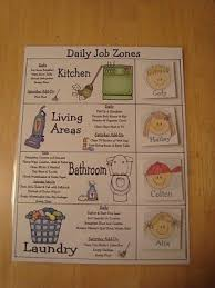 Zone Cleaning Chart For Kids 21 Chore Chart Ideas Family Chore Charts Chore Chart Kids
