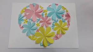 on 3d paper wall art tutorial with diy tutorial valentine diy flower heart shape 3d wall art createsie