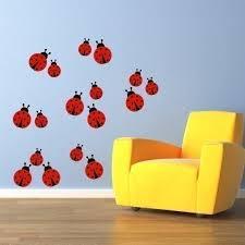 ladybug wall decal set of 17 ladybugs