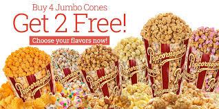 4 jumbo cones get 2 free