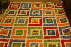 Inch Worm Fabrics: Baby Blanket- Jungle Path Baby Quilt & All wrinkly- but done!!! Adamdwight.com